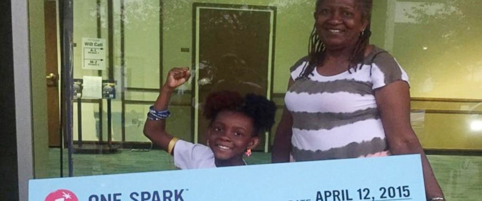 """PHOTO: Natalie McGriff won $16k with the comic book """"The Adventures of Moxie Girl"""", that she created with her mom, Angie Nixon."""