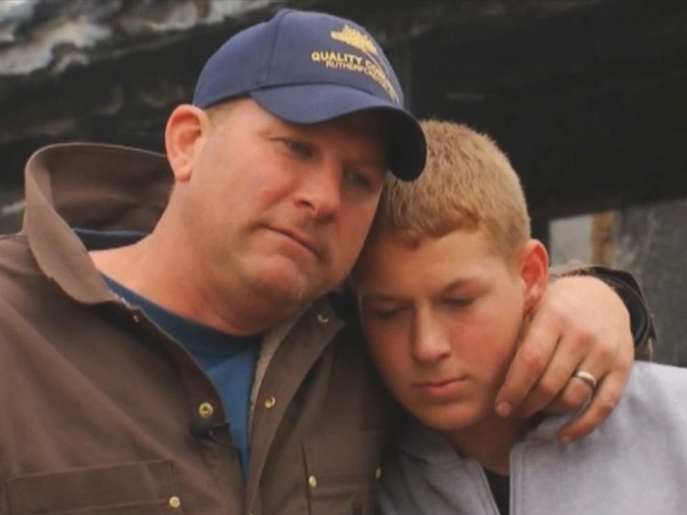 PHOTO: Jeb Luken, 14, helped his brothers escape after a fire engulfed their home in the middle of the night.