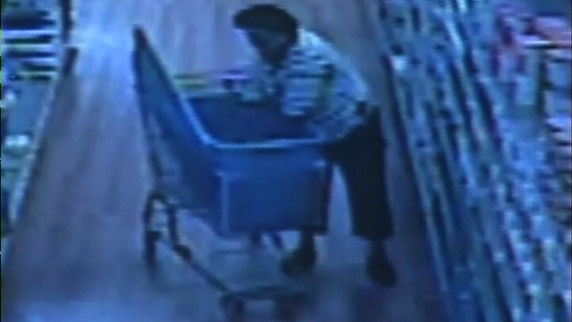 PHOTO: A woman is caught on a surveillance camera stealing baby formula from a Wal-Mart.