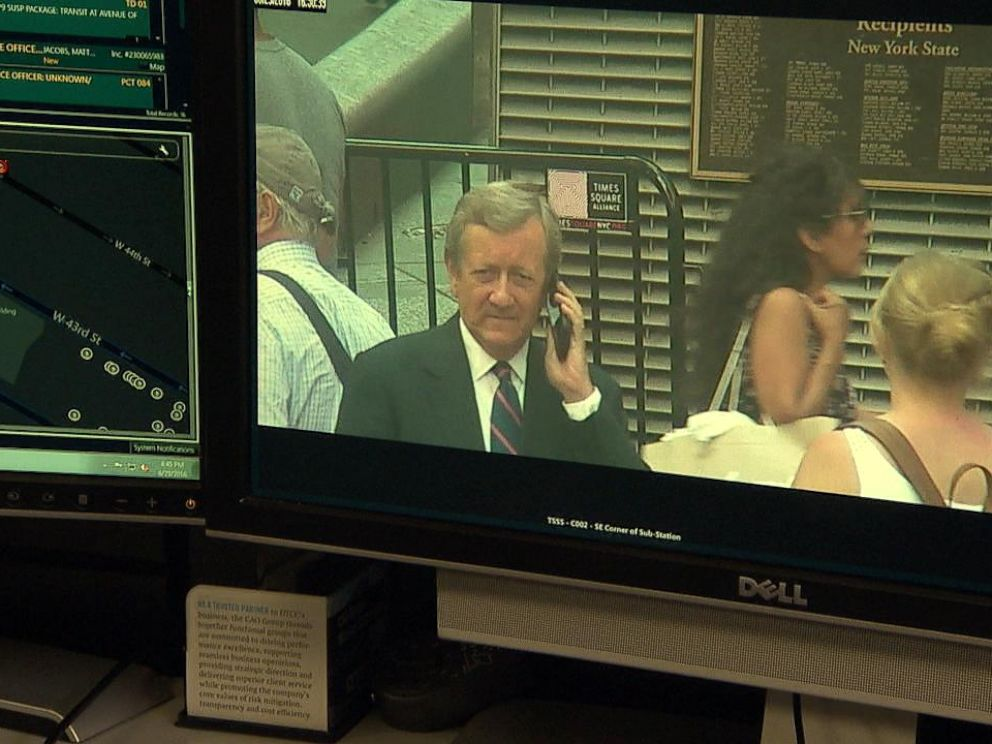 PHOTO: ABC News Chief Investigative Correspondent Brian Ross caught on surveillance cameras in New York Citys Times Square.