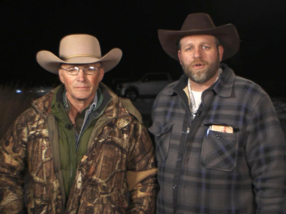 PHOTO: Lavoy Finicum and Ammon Bundy speak with Good Morning America on Jan. 4, 2016 from the Malheur National Wildlife Refuge facility near Burns, Ore.