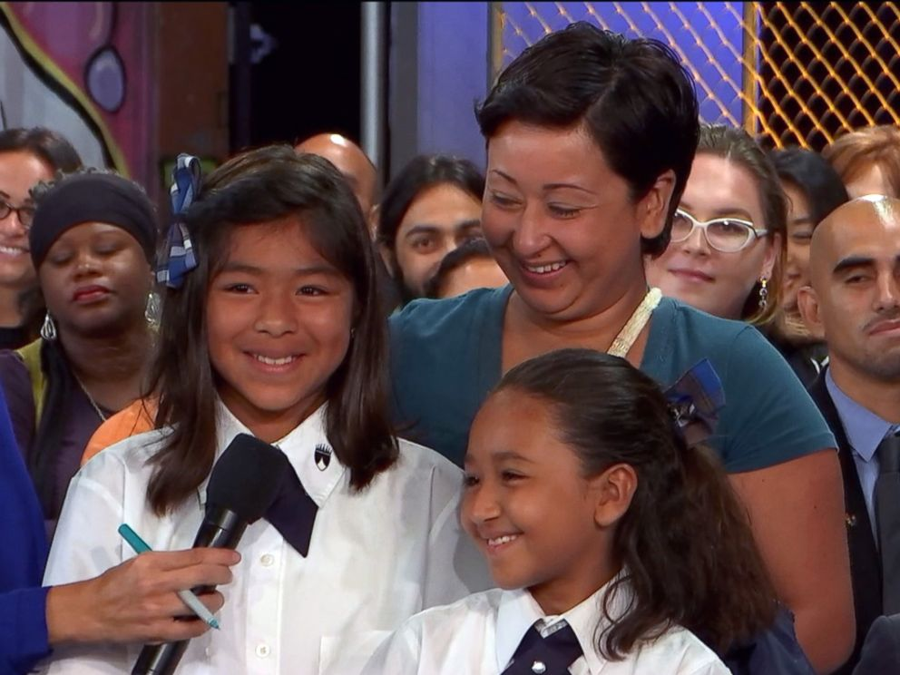 PHOTO: Rosemary Farfan was praised by Pope Francis for raising her two daughters