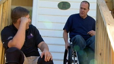 """PHOTO: Two vets launched their non-profit organization, """"Purple Heart Homes,"""" which recruits volunteers to construct custom-made modifications in veterans' homes to fit their new needs."""