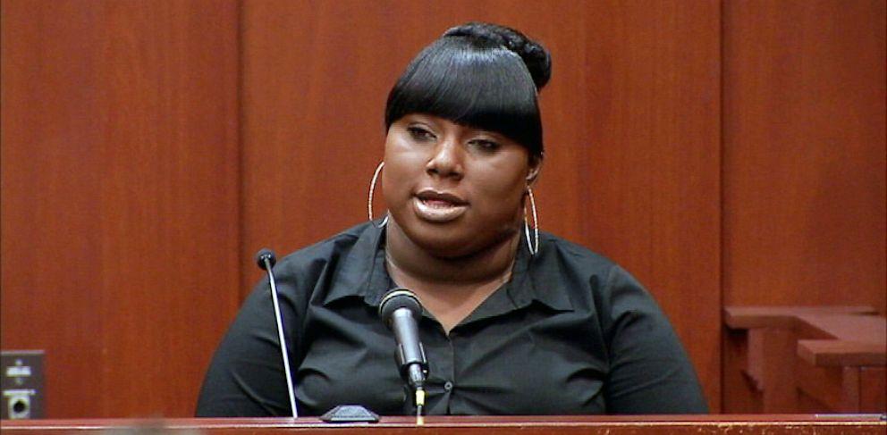 PHOTO: Rachel Jeantel testifies during George Zimmermans trial in Seminole circuit court in Sanford, Fla., June 26, 2013.