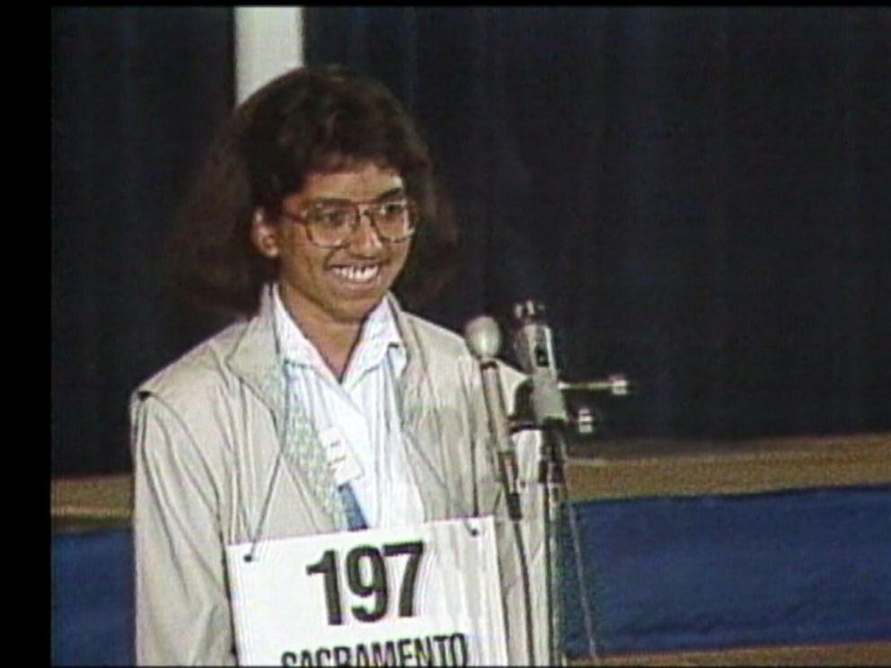 PHOTO: Raga Ramachandran won the Scripps National Spelling Bee in 1988 after correctly spelling the word elegiacal.