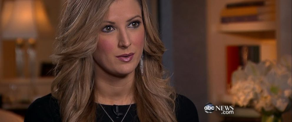 PHOTO: Rebekah Gregory, who lost her leg in the Boston Marathon bombing, speaks to ABC News Brian Ross about testifying against alleged attacker.