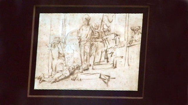 VIDEO: The rembrandt sketch, worth 250,000 dollars, was taken from a private art display in California.