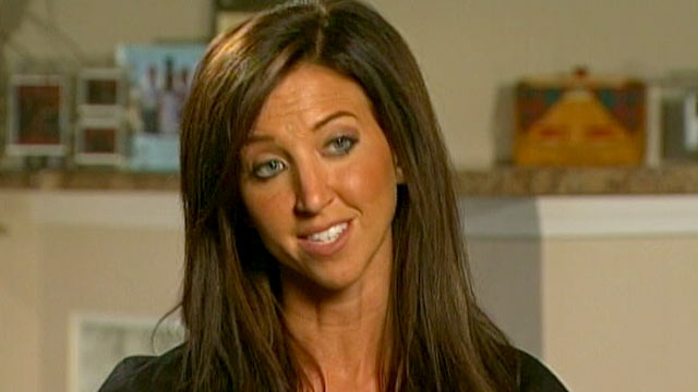 PHOTO: A former Bengals cheerleader accused of sex abuse, Sarah Jones, talks about her charges with Good Morning America.