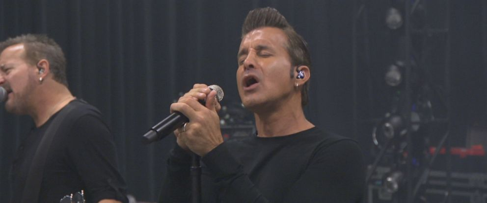 """PHOTO: Scott Stapp, seen here rehearsing during a """"Nightline"""" interview, released a new album called """"The Space Between the Shadows."""""""