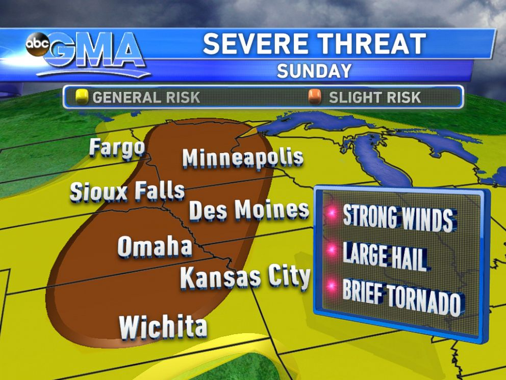 PHOTO: Parts of the country are at risk of severe weather on Sunday, Aug. 31, 2014.