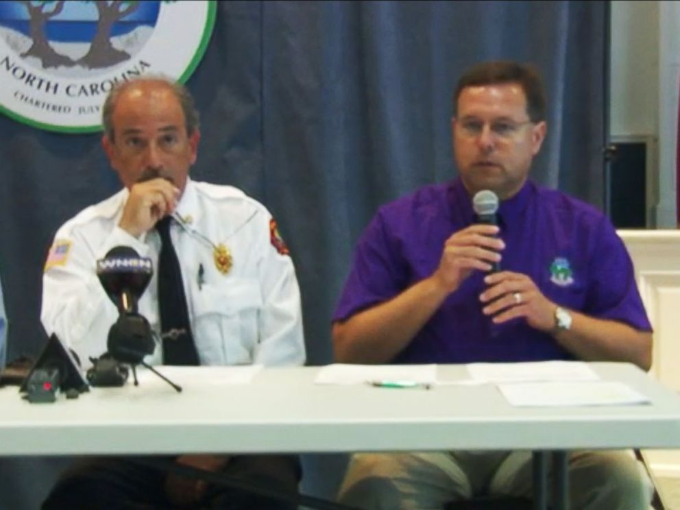 PHOTO: A press conference in North Carolina on June 15, 2015 to address the shark attacks that recently occurred.