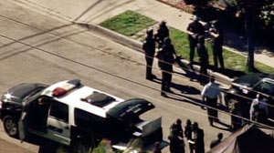 PHOTO As many as three people were injured today in what may have been an officer-involved shooting at Gardena High School, and police were apparently searching for a student who may have brought a gun to the campus.
