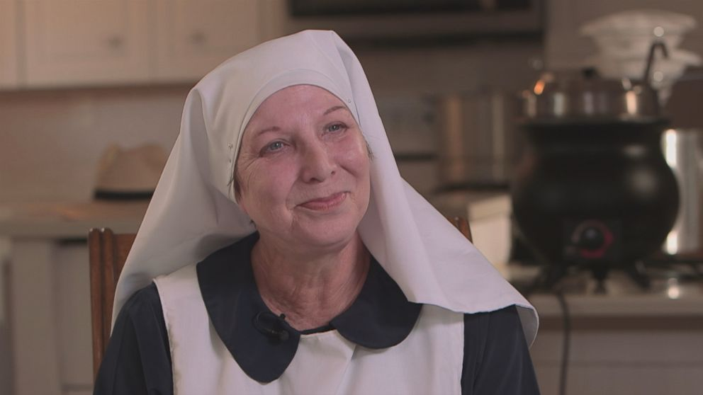 Sister Kate of the Sisters of the Valley is seen here during an interview with Nightline.