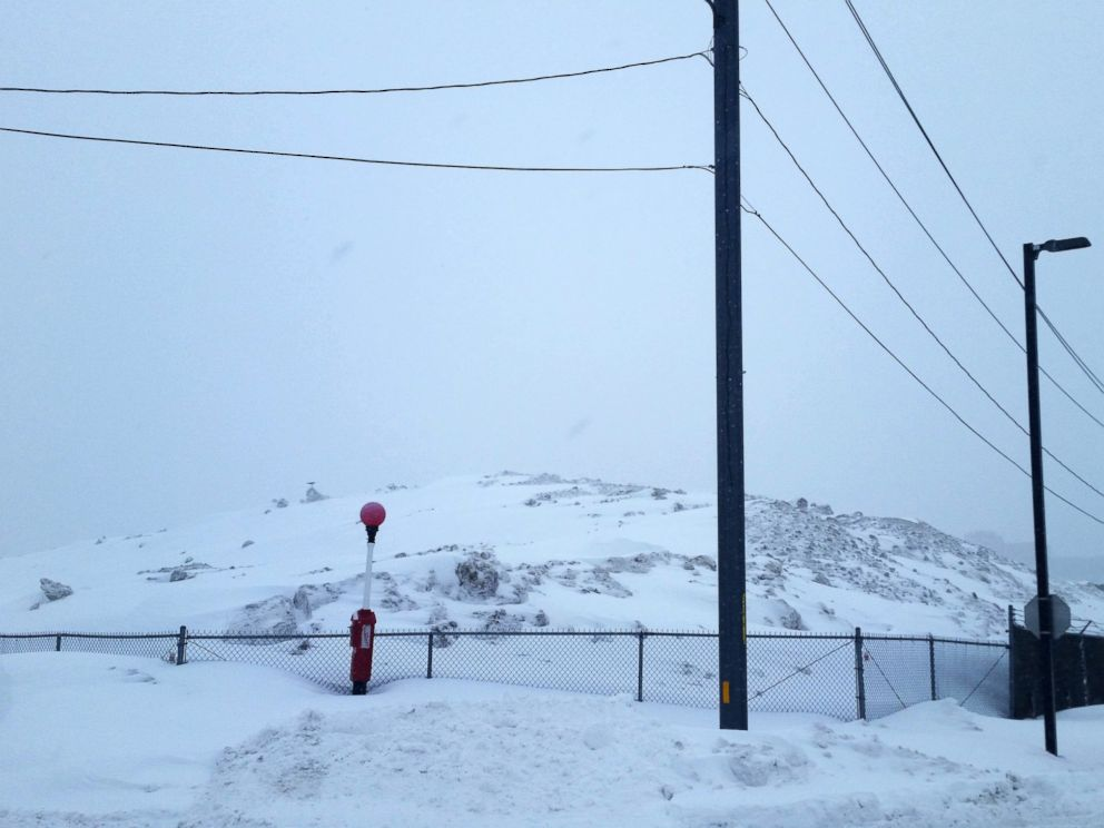 PHOTO: A snow pile in Boston, the product of a recent onslaught of winter storms.