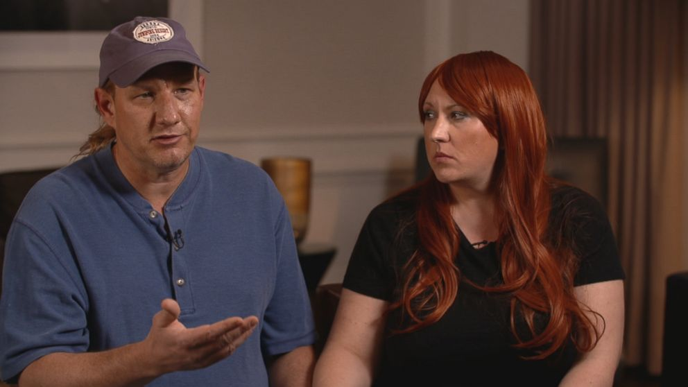 Todd Zonis and his wife Jennifer Zonis are seen here during an interview with Nightline.