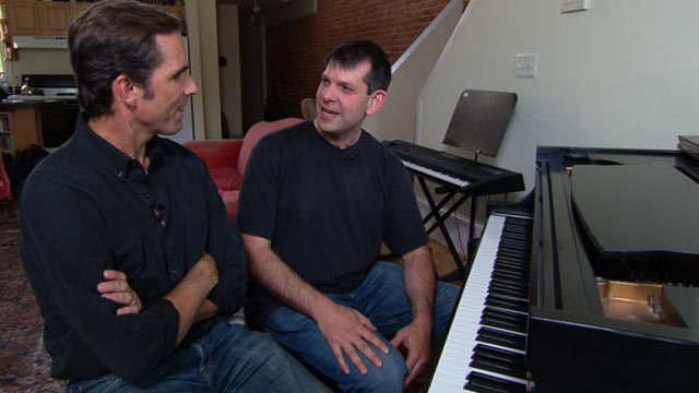 PHOTO: With the help of Music Corp, Veteran Todd Love learned to play the piano after losing both legs and his left arm in Afghanistan.