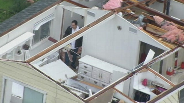 VIDEO: Homes and buildings damaged in aftermath of powerful twisters.