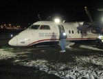 PHOTO: Passengers on a U-S Airways commuter flight on May 18, 2013 from Philadelphia to Newark, N.J. had a scary landing when the pilot was forced to land the plane on its belly after the landing gear malfunctioned.