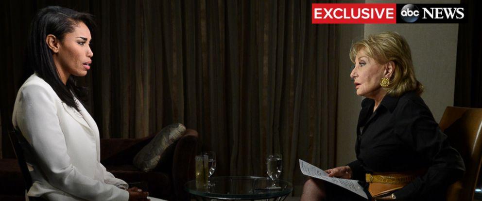 PHOTO: Barbara Walters interviews V. Stiviano, May 2, 2014.