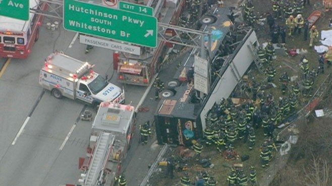14 Killed After Tour Bus Crash in New York