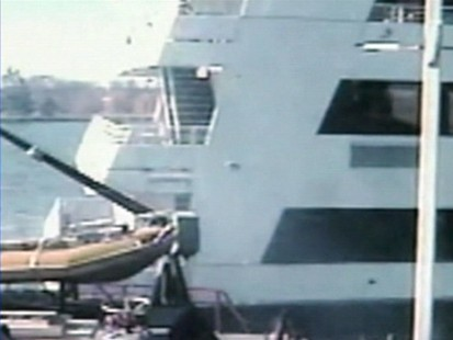 VIDEO: A cruise ship plows into police and fire boats.