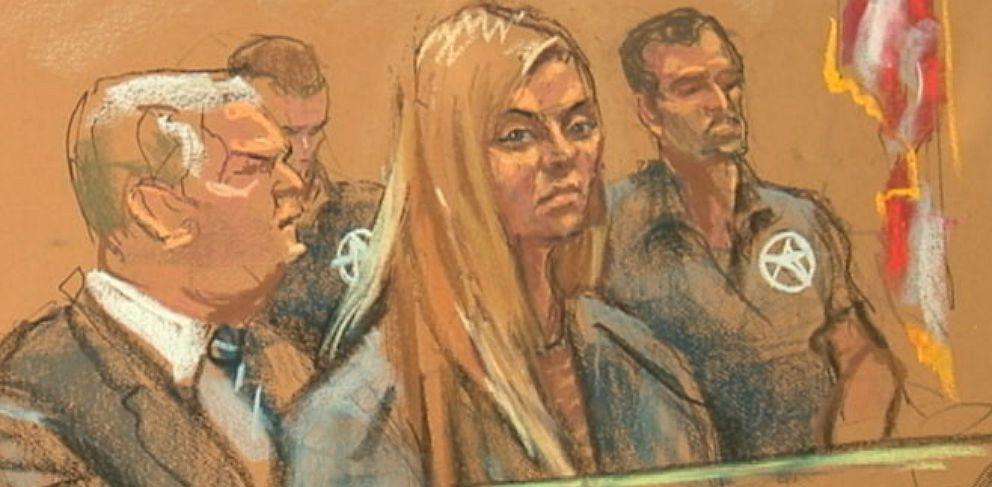 PHOTO: Sketch of Andrea Sanderlin in court