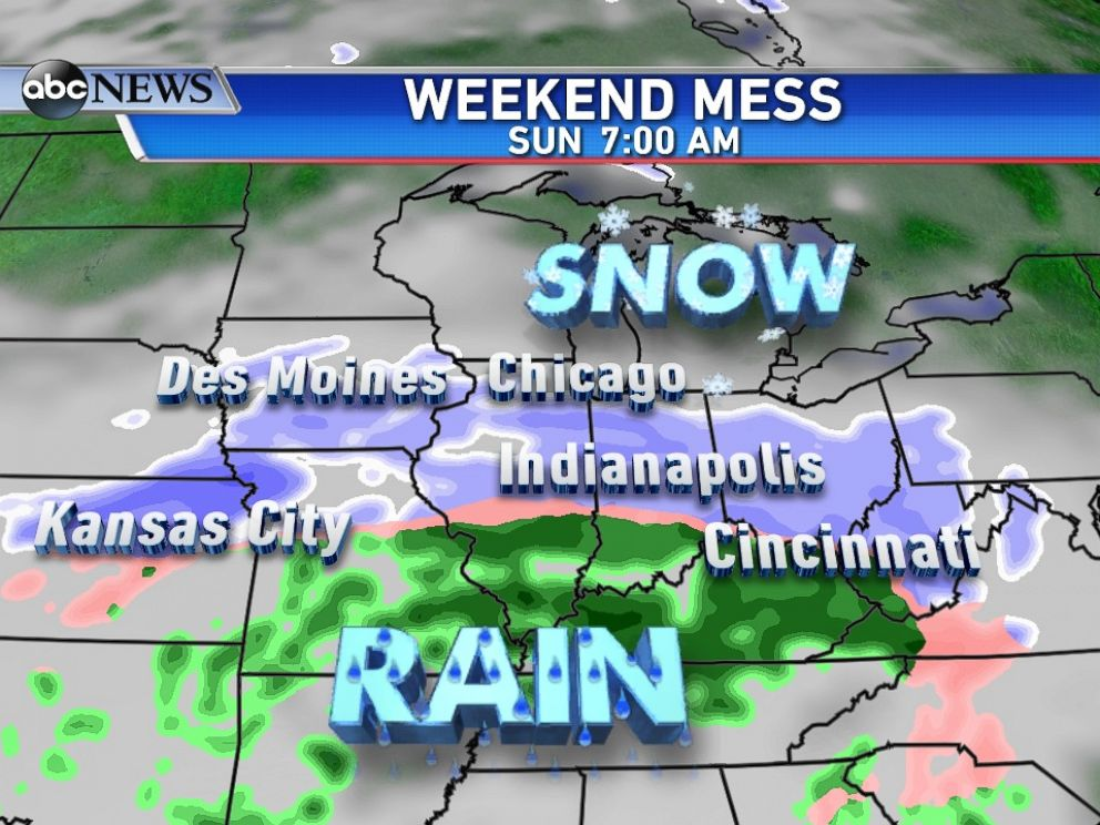 PHOTO: Another weekend storm will bring snow from the the Rockies to New England