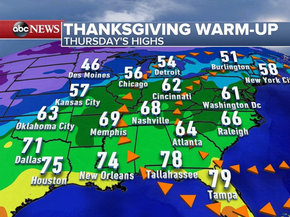 Your Thanksgiving Weather Forecast - ABC News