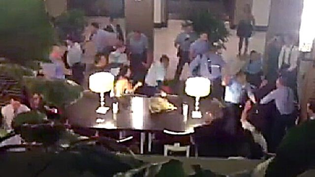 PHOTO: Philadelphia police are investigating a violent brawl inside a hotel between guests of two different wedding parties.