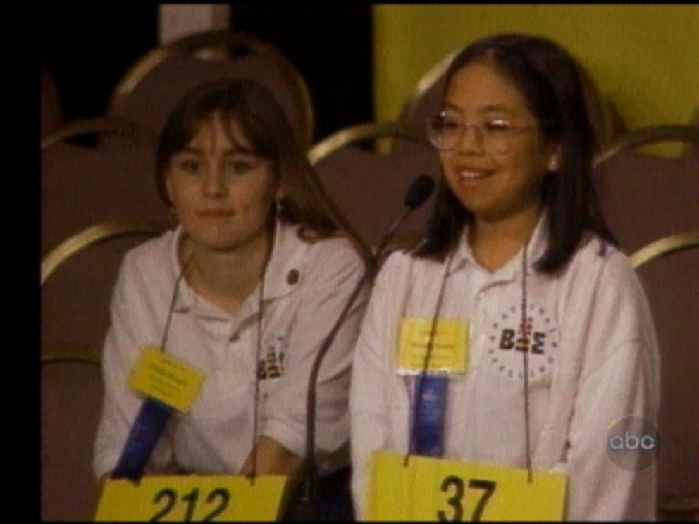 PHOTO: Wendy Guey, right, won the Scripps National Spelling Bee in 1996 after correctly spelling the word vivisepulture.
