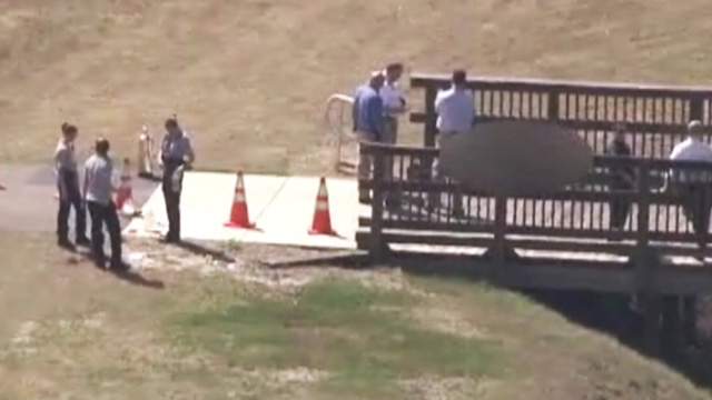 PHOTO: Scene where two bodies were burned