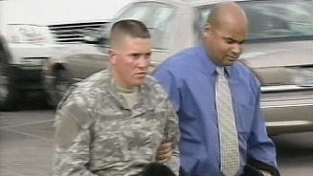 VIDEO: Hearing will determine if military will try Brent Burke on 2007 murder charges.