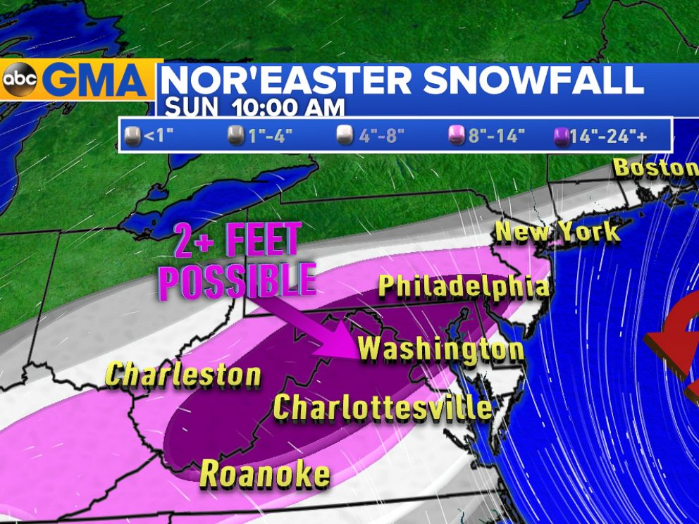 PHOTO: Meteorologists say there could be over two feet of snow in this weekends storm.