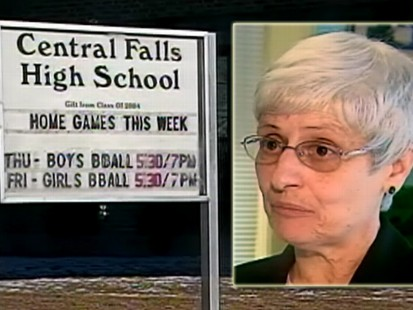 VIDEO: Central Falls H.S. teachers are fired after failing to agree to new workloads.