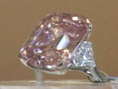 Video: Rare pink diamond up for auction.