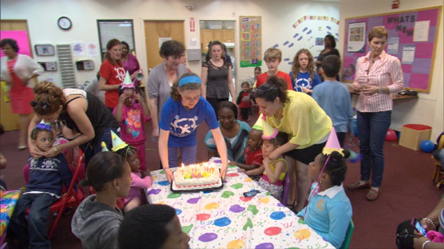 PHOTO A Party Thrown By Birthday Wishes Who Provides Parties For Homeless Children
