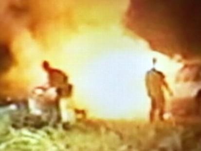VIDEO: Three sheriffs deputies in Georgia rescue a man from his burning car.