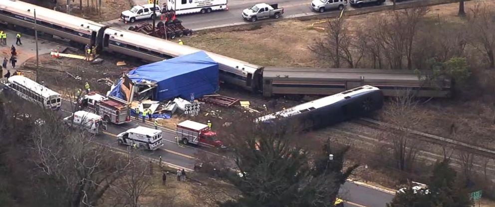 PHOTO: A train crash in Halifax County, North Carolina, March 9, 2015.