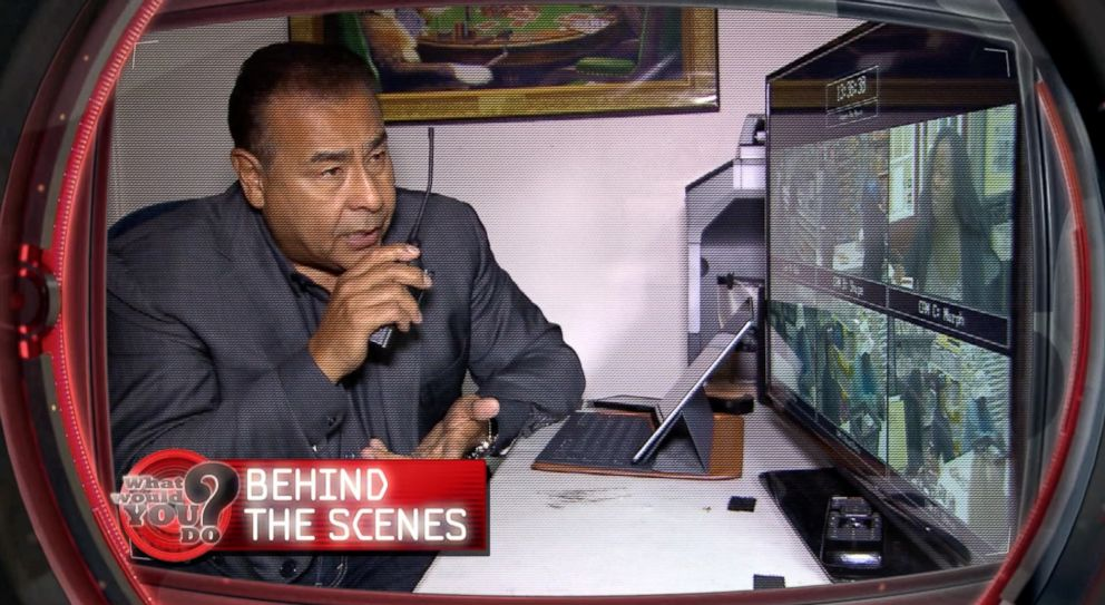 What Would You Do? host John Quinones follows the action behind the scenes.