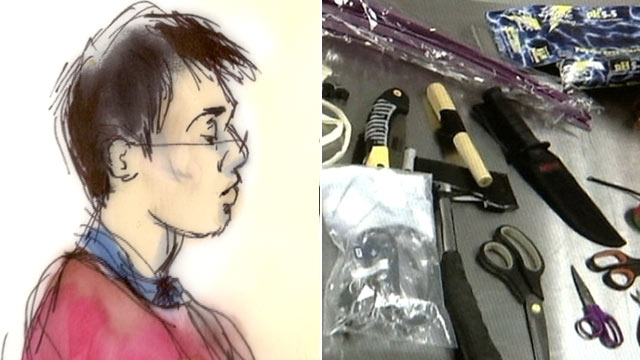 PHOTO: Yongda Huang Harris was arrested at Los Angeles International Airport, Oct. 5, 2012, after an officer found a smoke grenade and several weapons in his luggage.