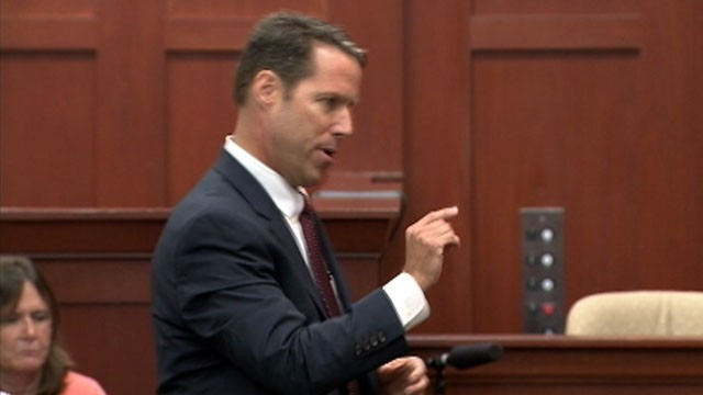 VIDEO: A prosecutor quotes George Zimmerman's phone call from the night he shot the 17-year-old.