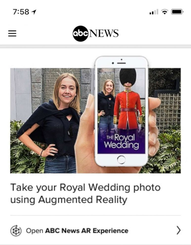 PHOTO: ABC News is bringing iconic symbols of Windsor Castle closer to your home with The Royal Wedding AR Experience.