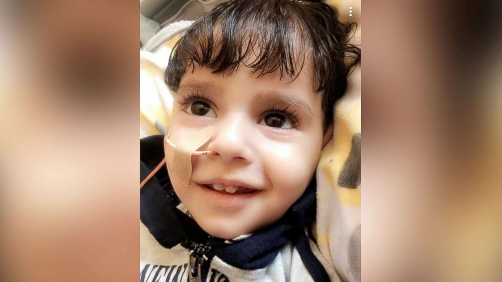 Abdullah Hassan, 2, who suffers from a genetic brain condition, is pictured at UCSF Benioff Children's Hospital in Oakland, Calif., in an undated handout photo from the Council on American-Islamic Relations' Sacramento Valley chapter.