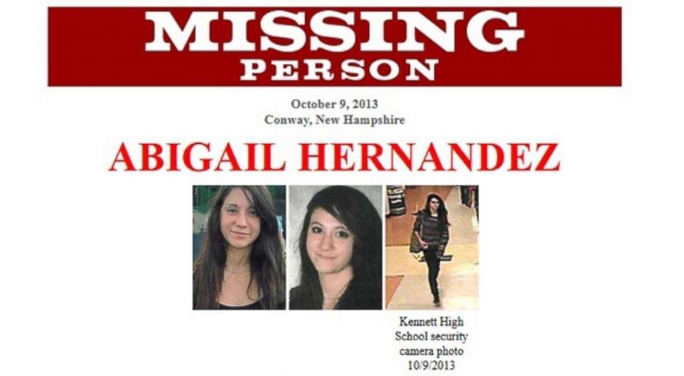 PHOTO: Abigail Hernandez disappeared during her walk home from school on Oct. 9, 2013.
