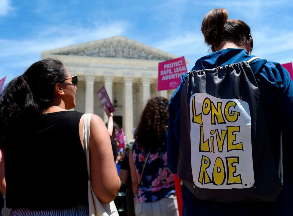 PHOTO: Abortion rights activists rally in front of the US Supreme Court, May 21, 2019.