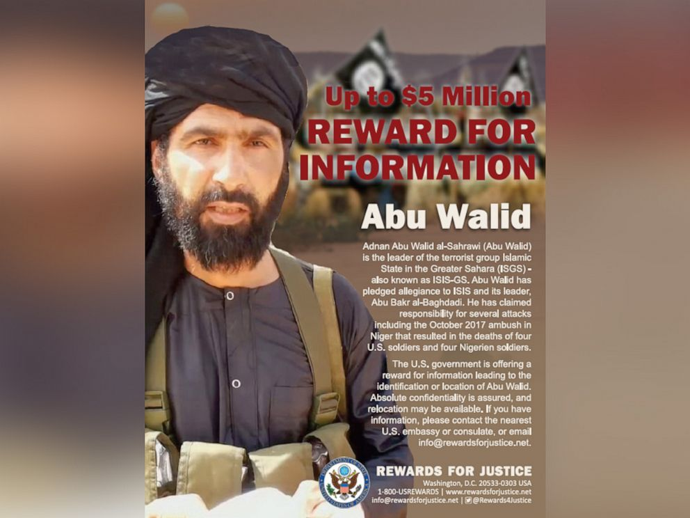 PHOTO: A flyer released by the State Department of Abu Walid.