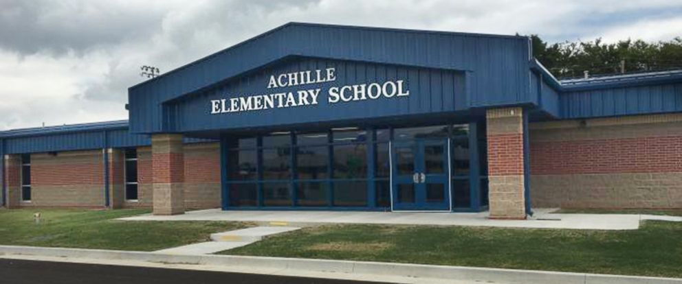 PHOTO: Achille Elementary School in Achille, Okla., is pictured in an undated handout photo.