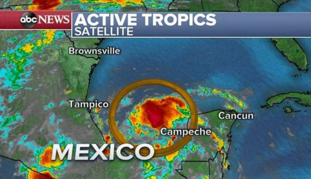 PHOTO: A disturbance is forming in the Bay Campeche that will bring rain to the Gulf Coast later this week.