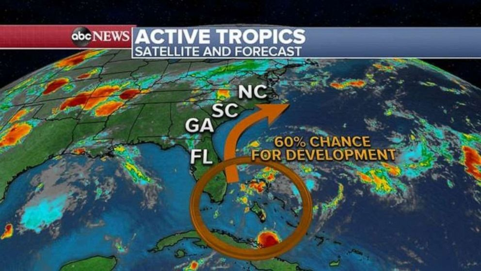 PHOTO: There is a 60% chance for development of a tropical system.