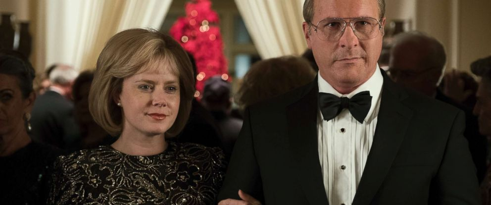 "PHOTO: Amy Adams as Lynne Cheney and Christian Bale as Dick Cheney in ""Vice."""